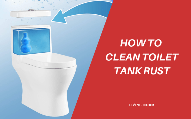 how to clean toilet tank rust