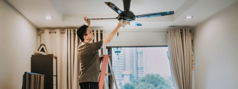 how to clean greasy ceiling fans