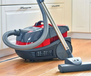sanitizing canister vacuum cleaner